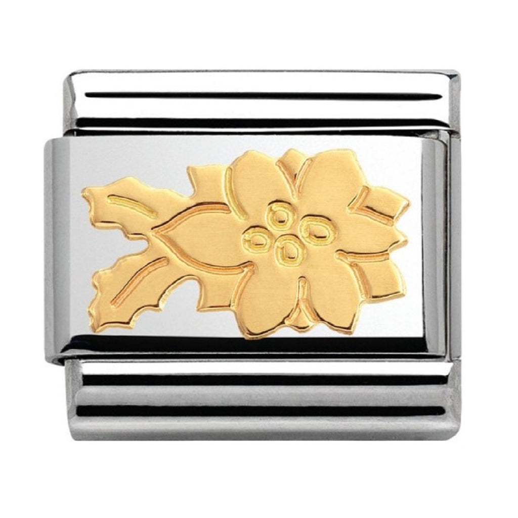 NOMINATION Charm 18ct Gold Poinsettia