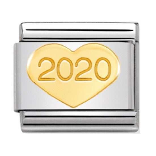 Nomination Links 18ct Gold Heart 2020