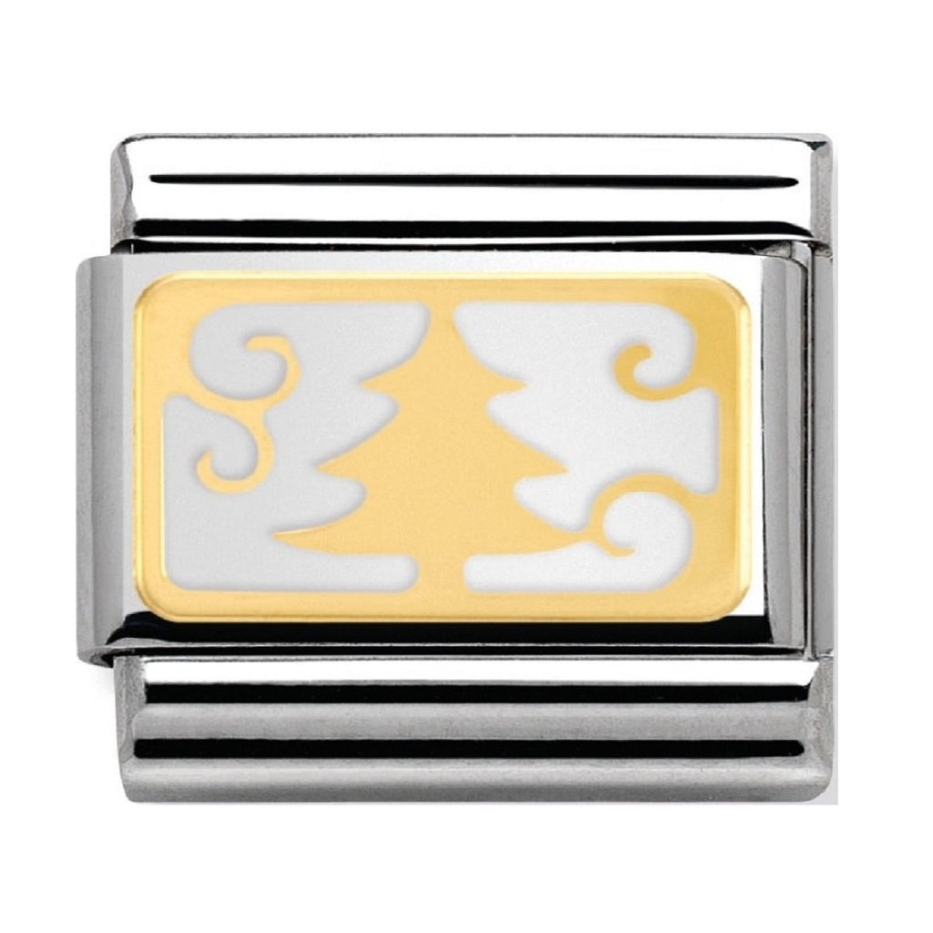 Nomination Link 18ct Gold and Enamel Christmas Tree