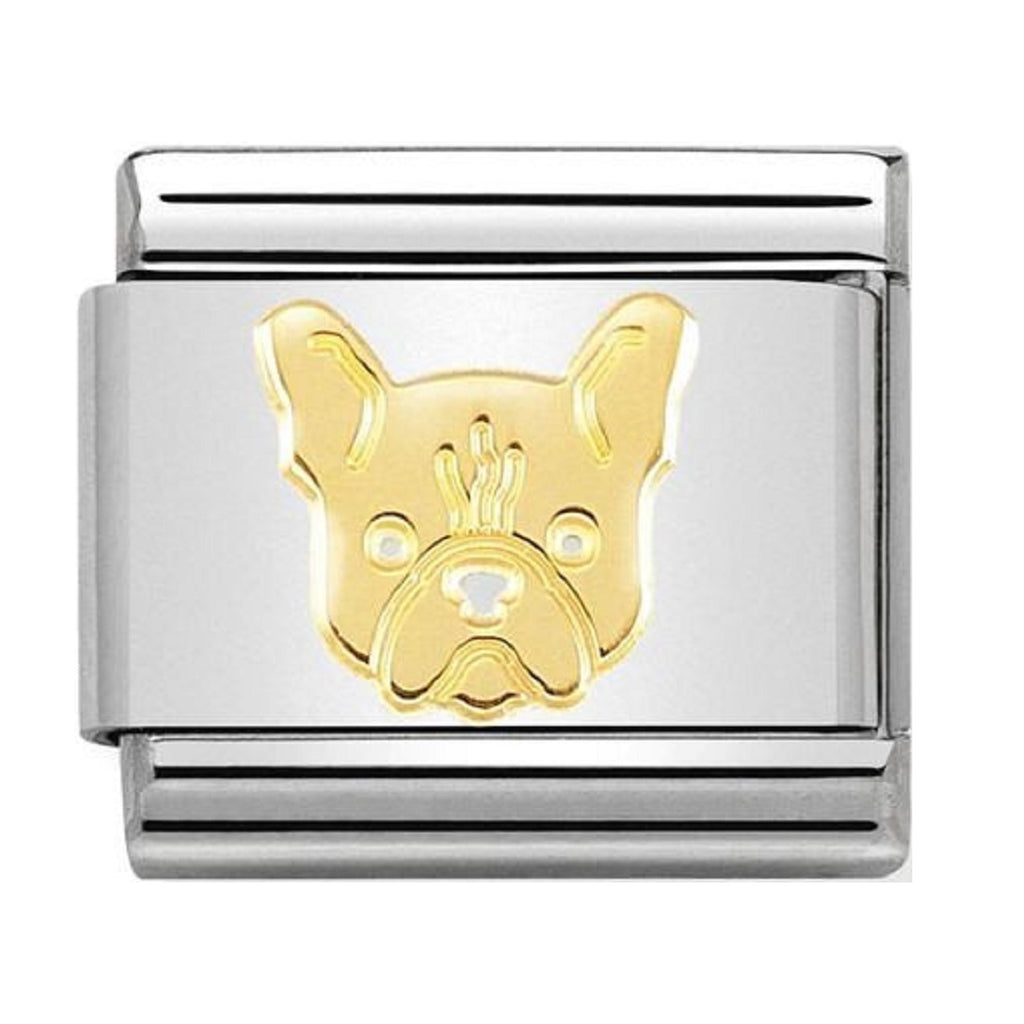 NOMINATION Charm 18ct Gold French Bulldog