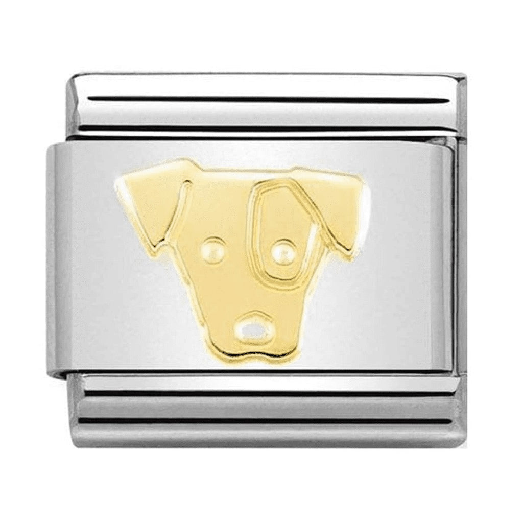 NOMINATION Charm 18ct Gold Jack Russell