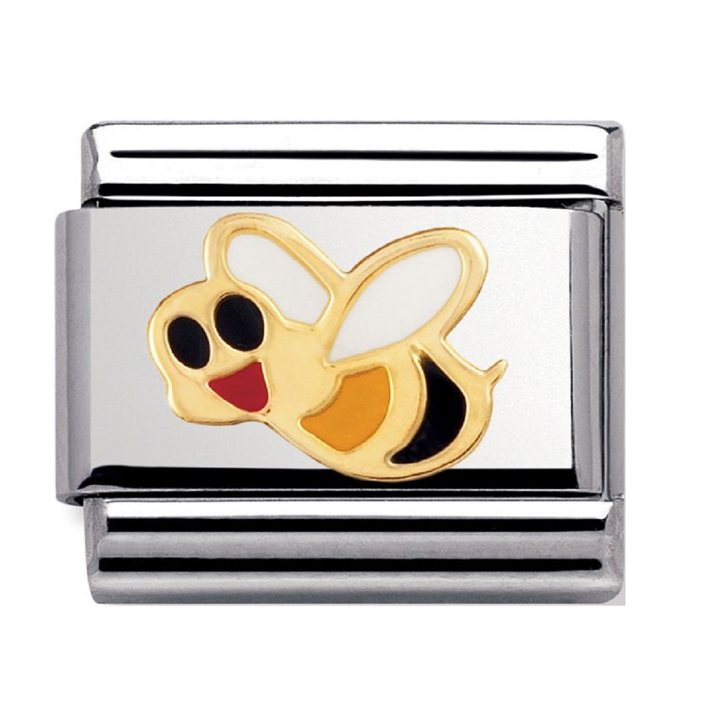 NOMINATION Charm 18ct Gold and Enamel Bee