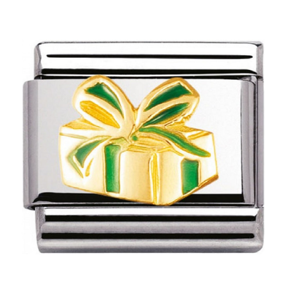 Nomination Links 18ct Gold and Enamel Christmas Present