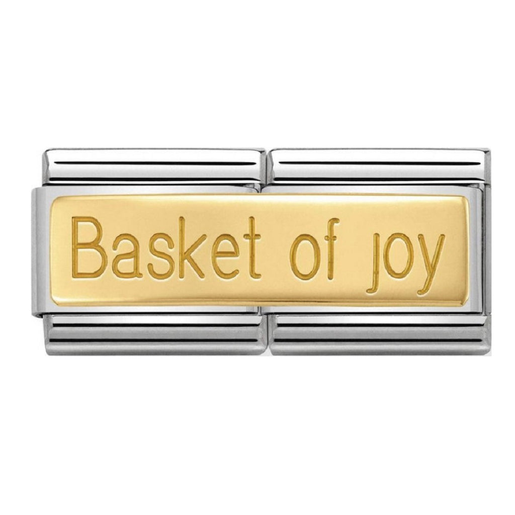 NOMINATION Charm double 18ct Gold Basket of Joy