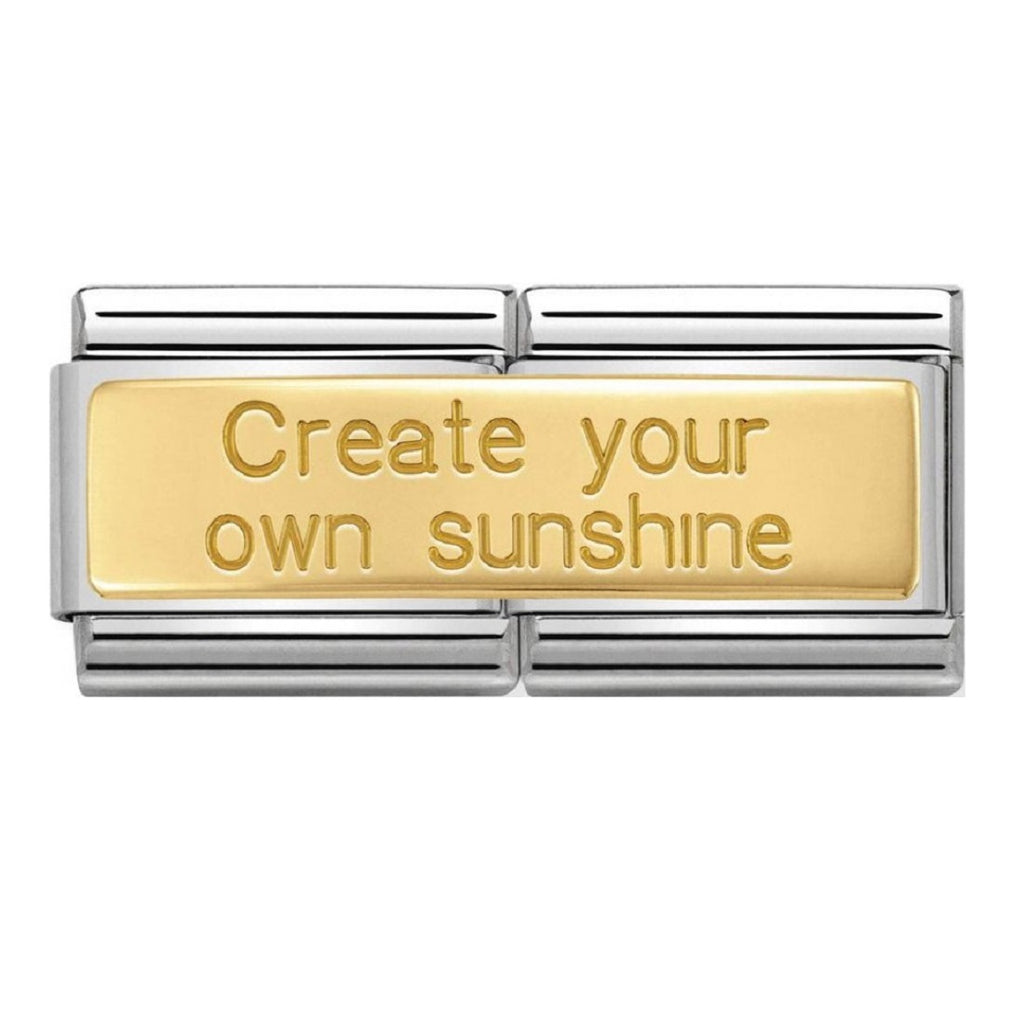 Nomination Double Link 18ct Gold Create Your Own Sunshine