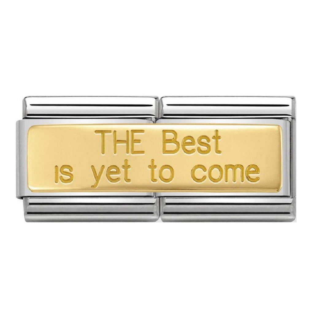 NOMINATION Charm Double 18ct Gold The Best Is Yet To Come