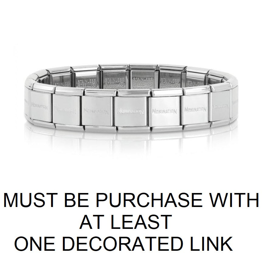 Nomination Big Base Bracelet Only Sold When 1 or More Decorated Link Are Purchased Per Bracelet