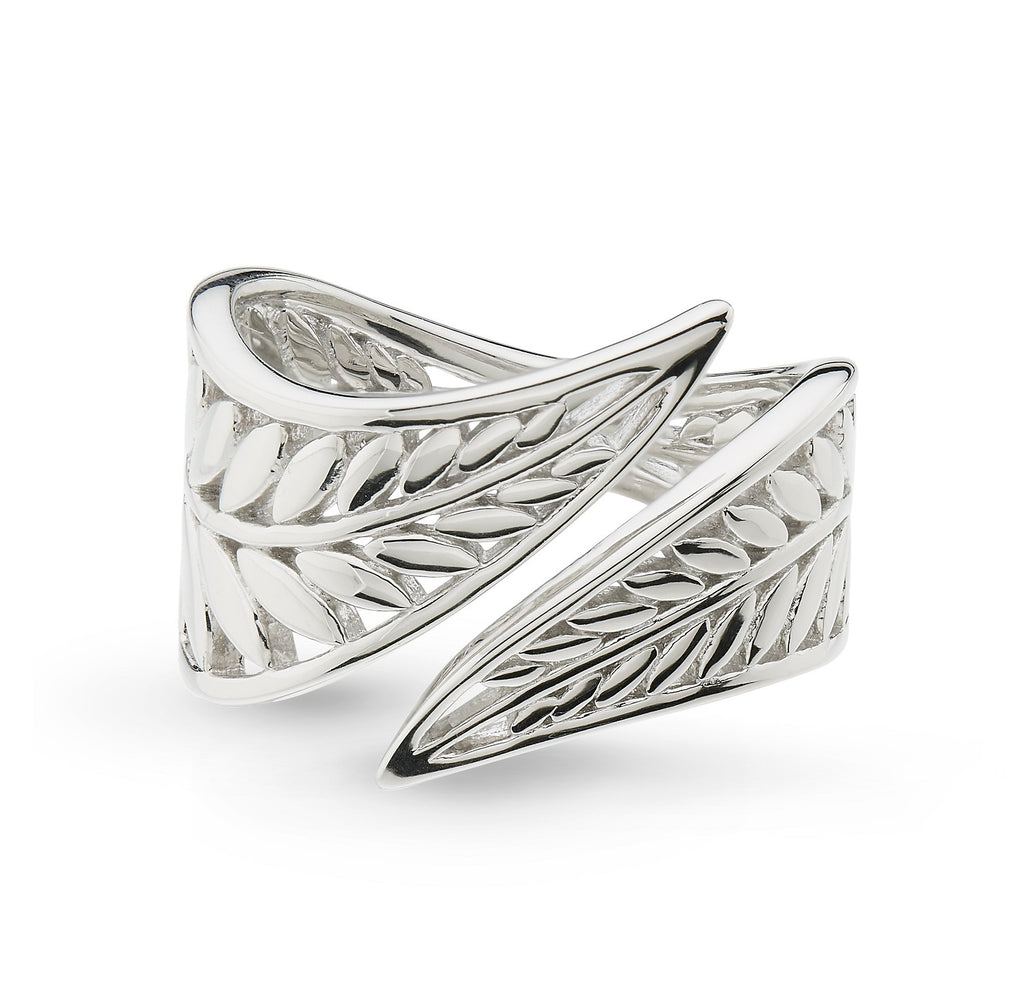 Kit Heath Blossom Eden Wrapped Leaf Ring