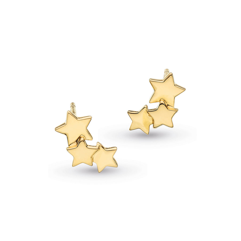 Kit Heath Silver Stargazer Galaxy Gold Plated Earrings