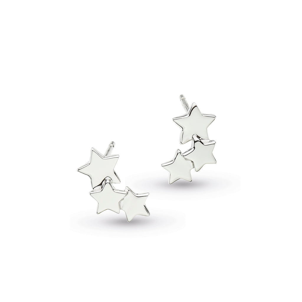 Kit Heath Silver Stargazer Galaxy Earrings