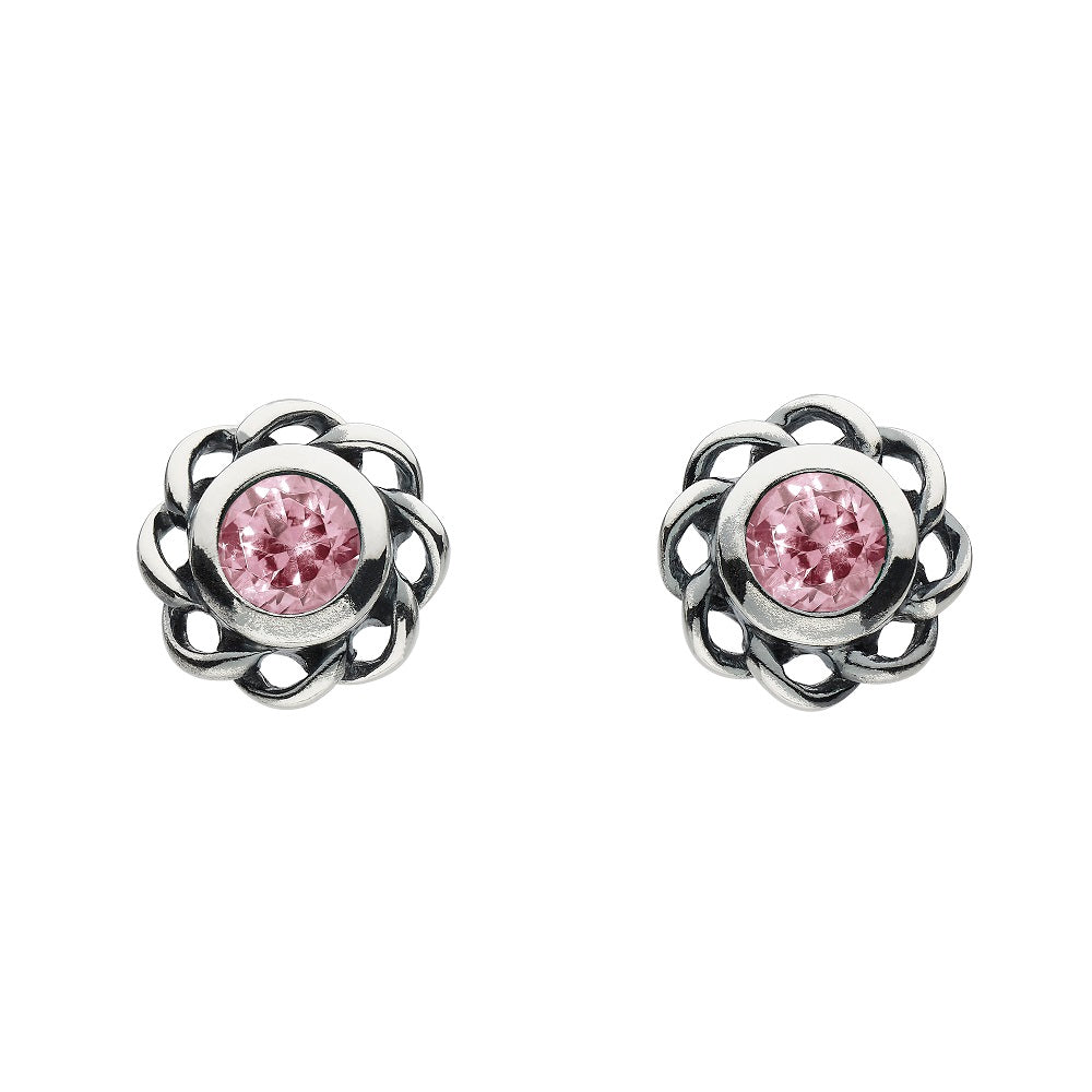 Heritage by Kit Heath Mystic Birthstone October Twist Stud Earrings
