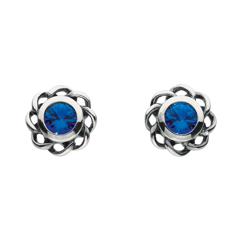 Heritage by Kit Heath Mystic Birthstone September Twist Stud Earrings