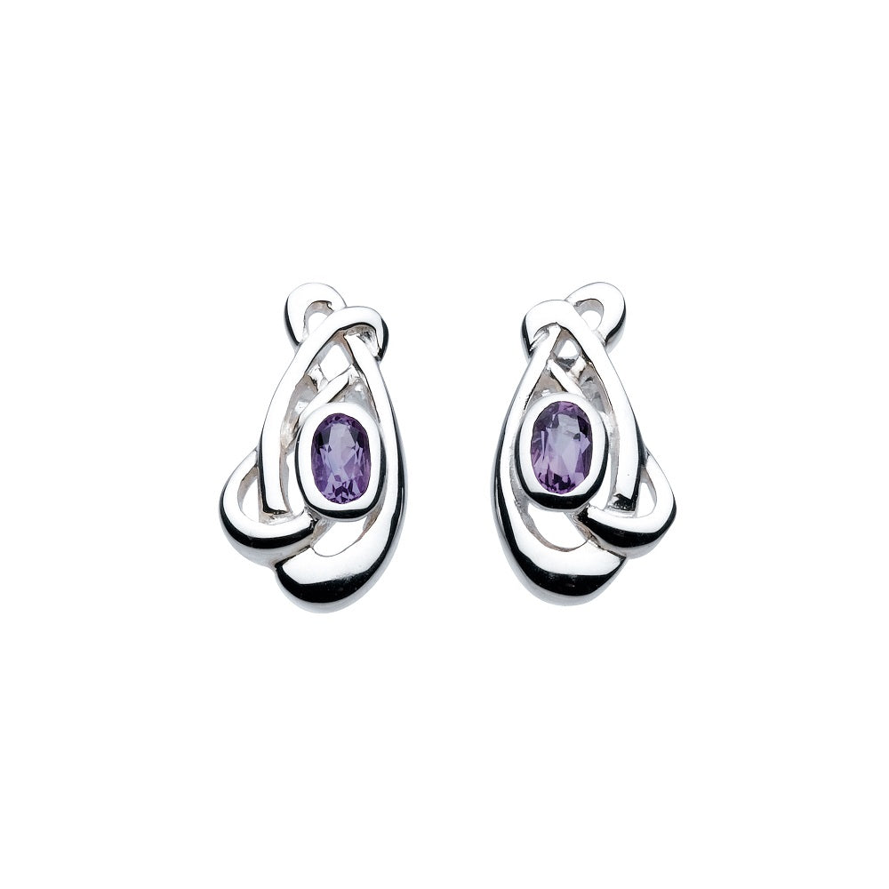 Heritage by Kit Heath Haether Flowing Knot Amethyst Stud Earrings