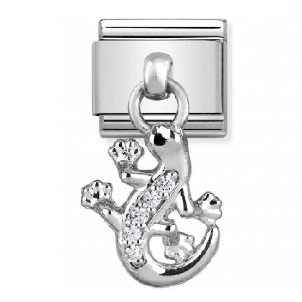 NOMINATION Charm Pendand Silver and CZ Gecko