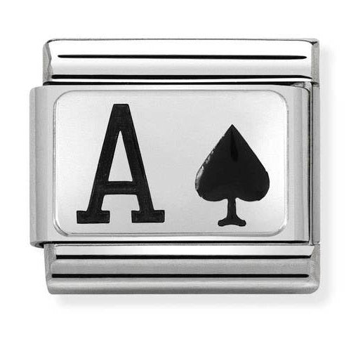 NOMINATION Charm Silver and Enamel Ace of Spades
