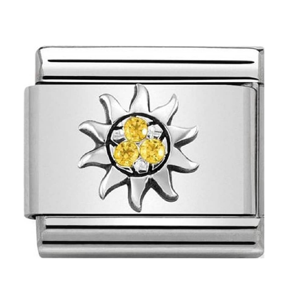 Nomination Link Silver and Cubic Zirconia Sun
