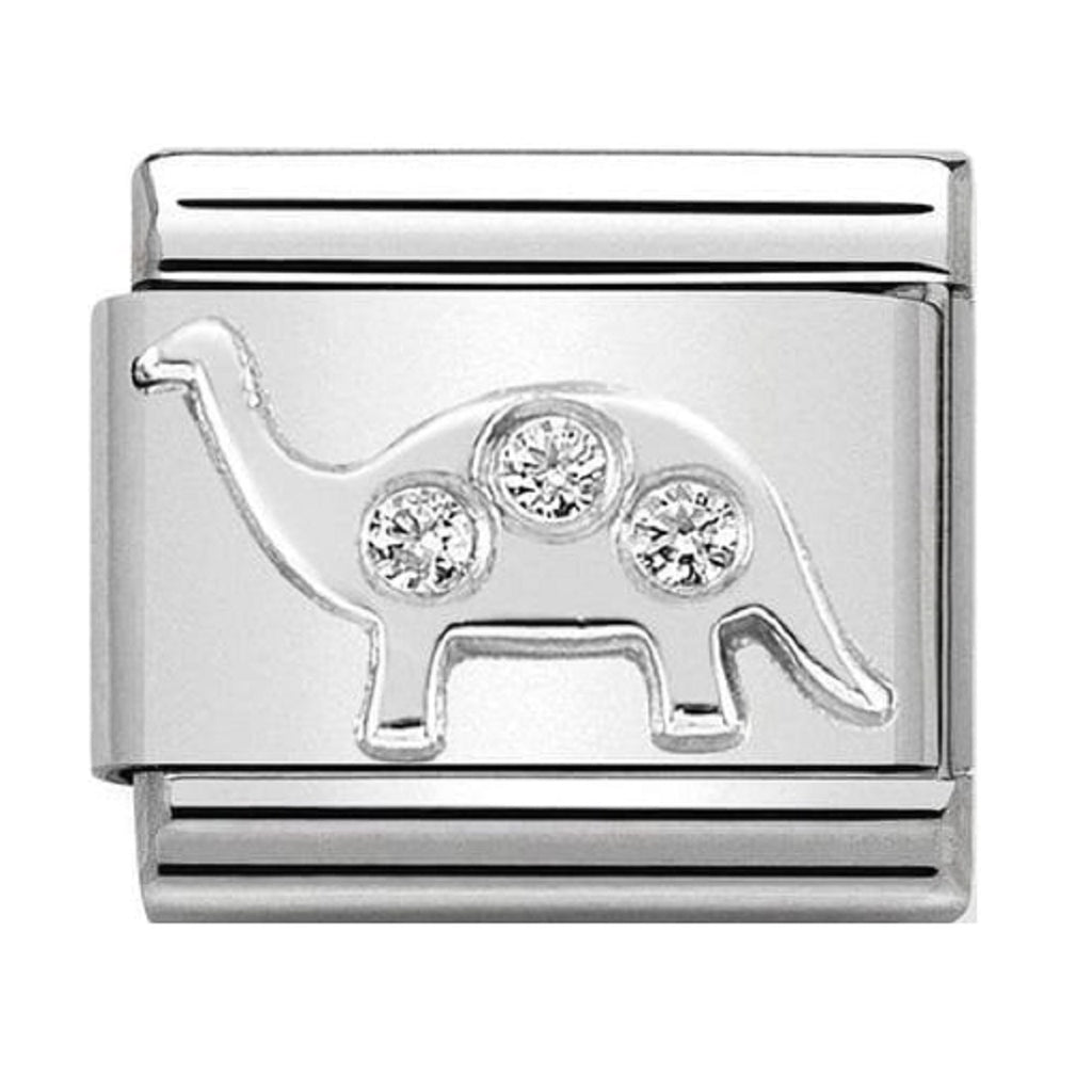 NOMINATION Charm Silver and CZ Brontosaurus