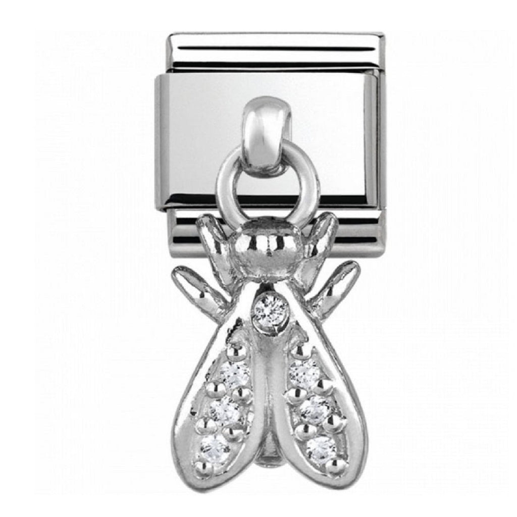 Nomination Link Pendant Silver Fly with CZ