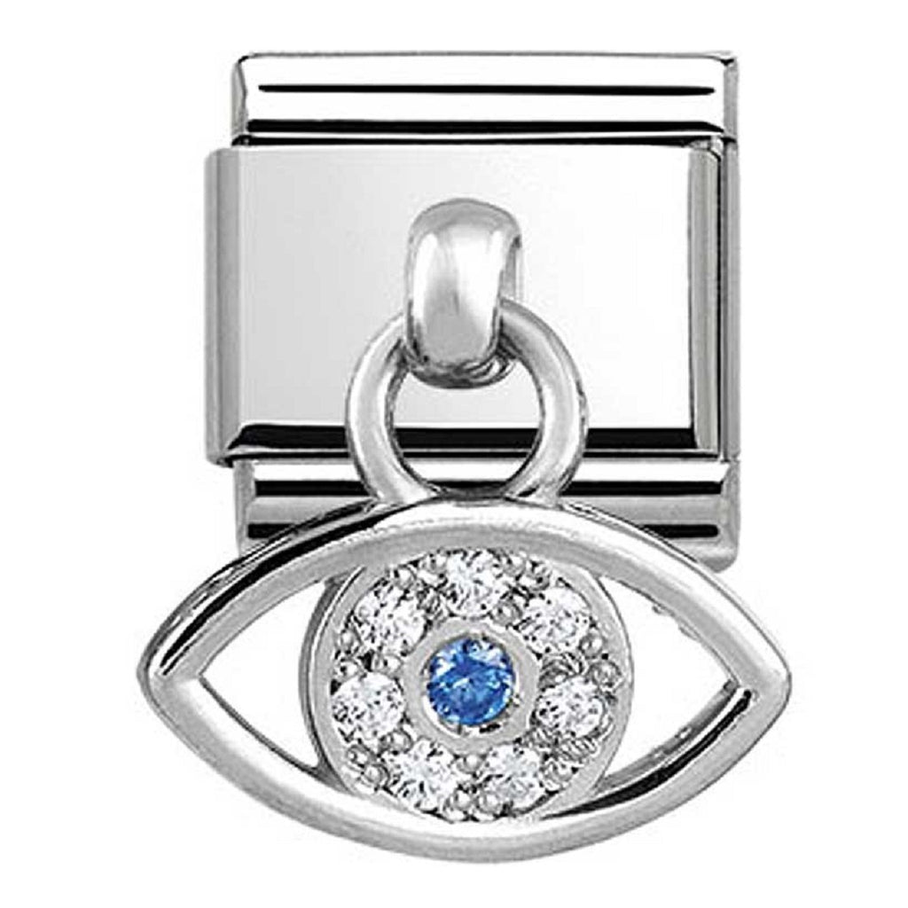 Nomination Link Pendant Silver Greek Eye with CZ