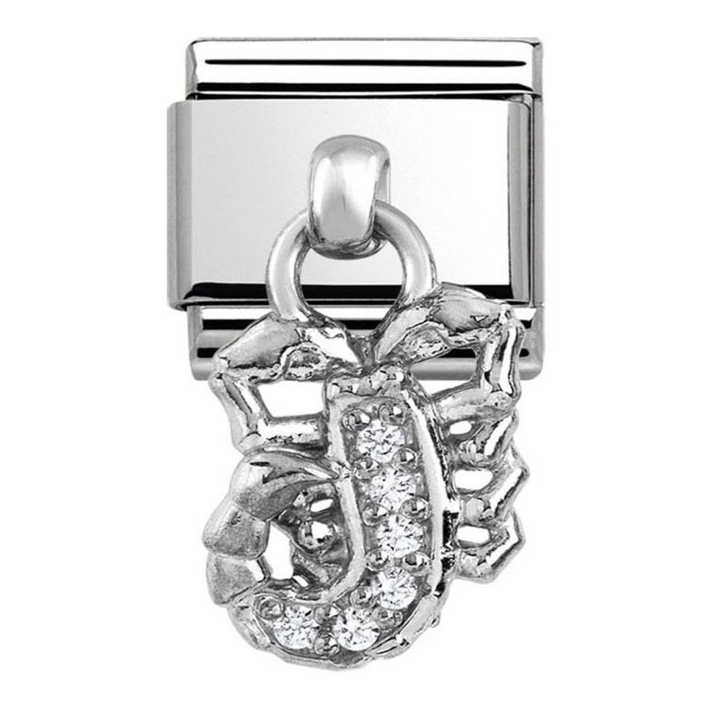 NOMINATION Charm Pendand Silver and CZ Scorpio
