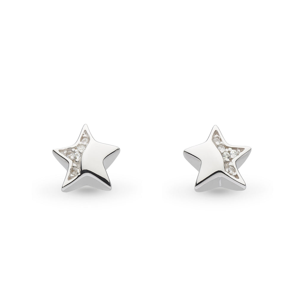Kit Heath Miniature Sparkle CZ Shining Star Earrings