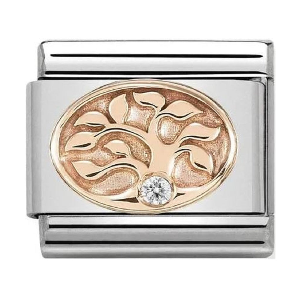 Nomination Link Rose Gold with CZ Tree of Life