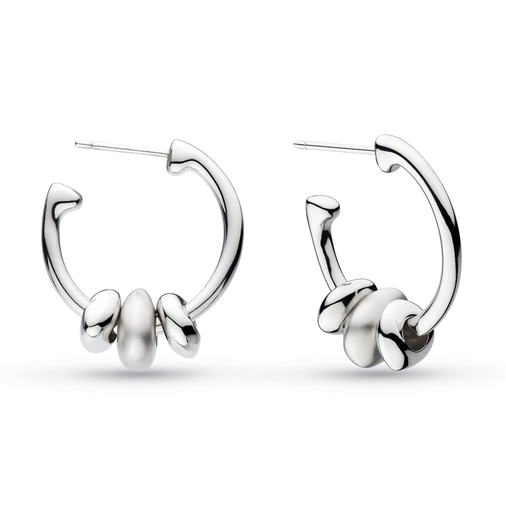 Kit Heath Coast Tumble Sandblast Trio Hoop Earrings