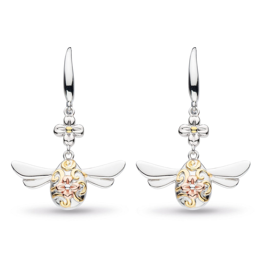 Kit Heath Silver & Gold Plated Blossom Flyte Queen Bee Drop Earrings