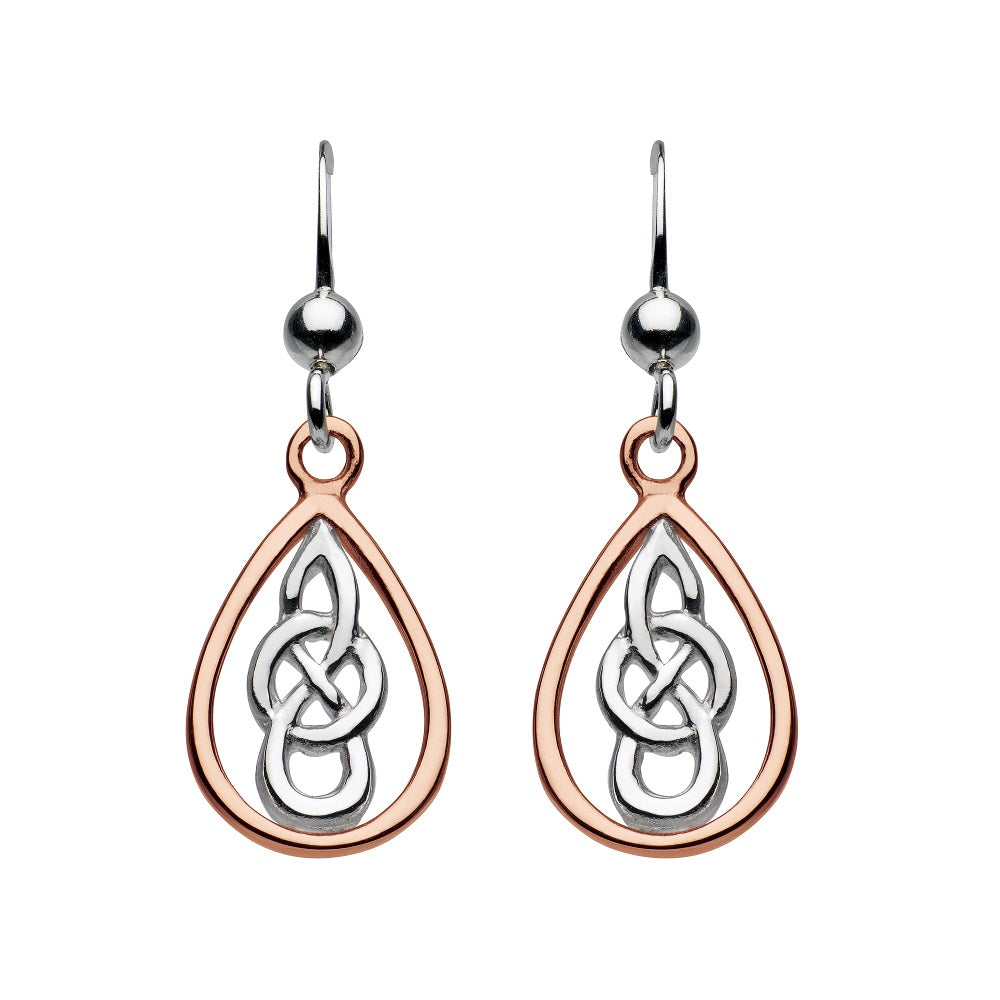 Heritage by Kit Heath Kyla Rose Gold Celtic Teardrop Earrings