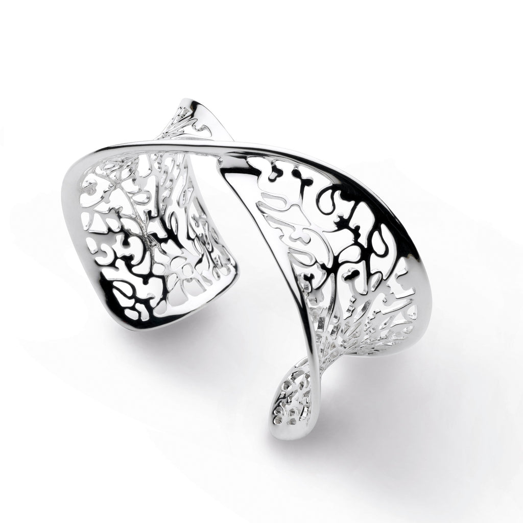 Kit Heath Silver Blossom Flourish Bangle