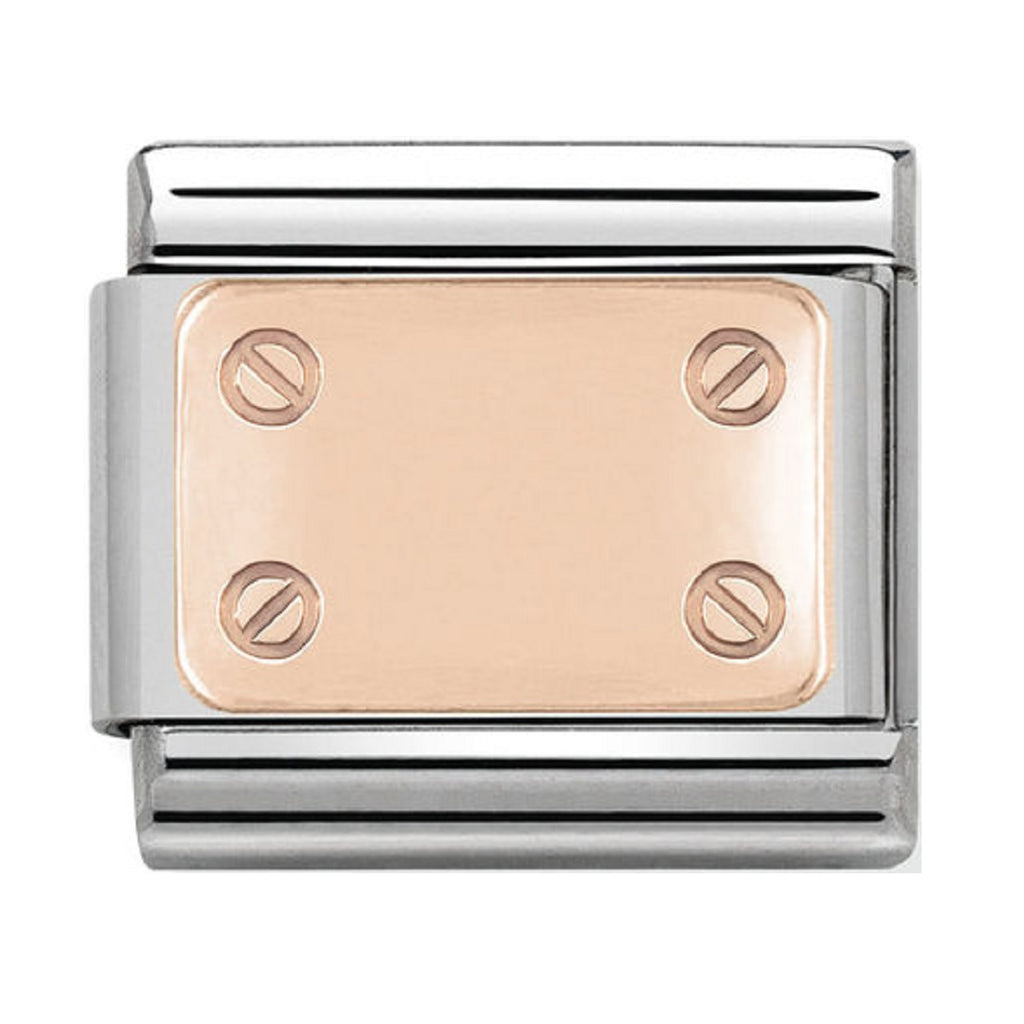 Nomination Charms Rose Gold Screw Plate