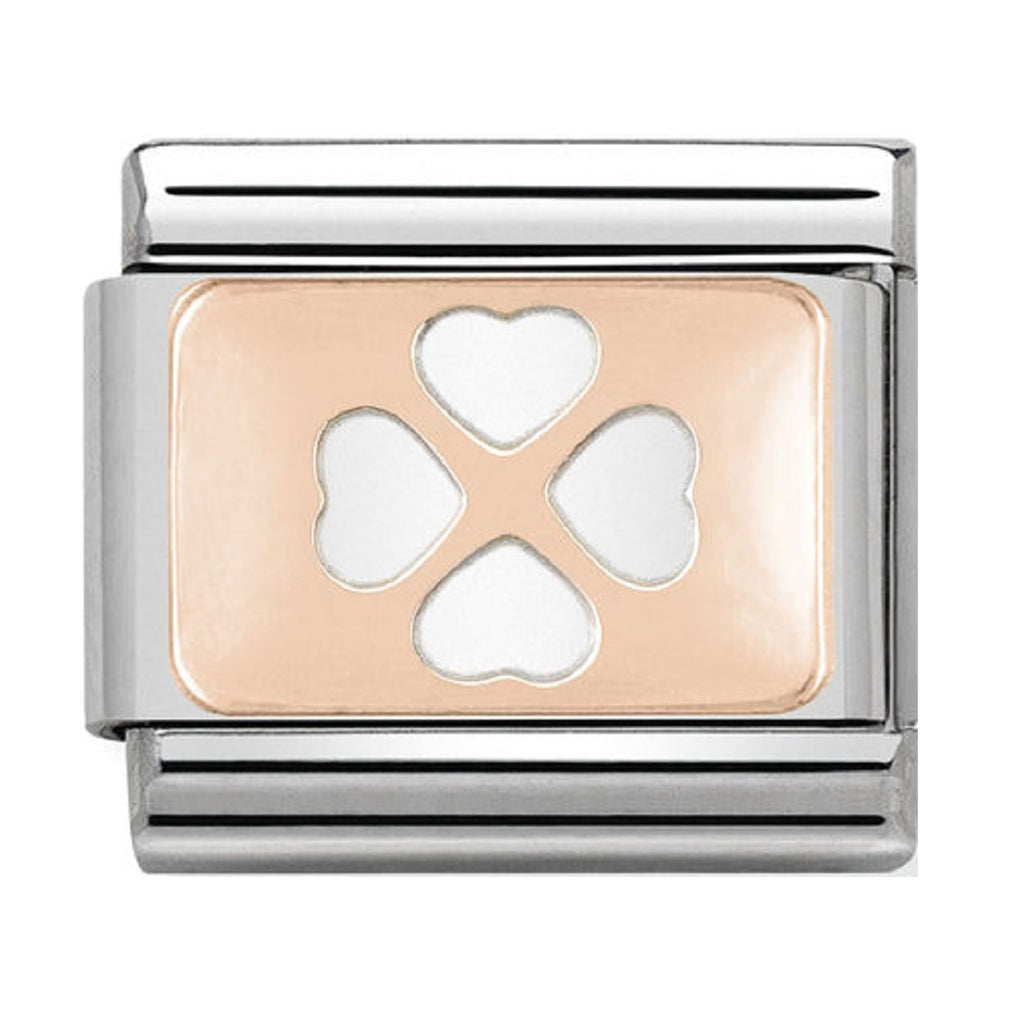 Nomination Charms Rose Gold Four Leaf Clover