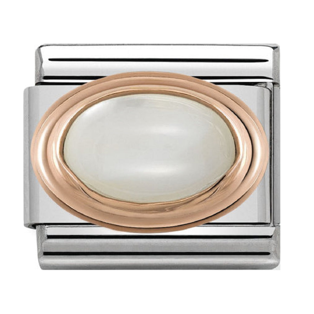 Nomination Charms Rose Gold Mother Of Pearl Stone