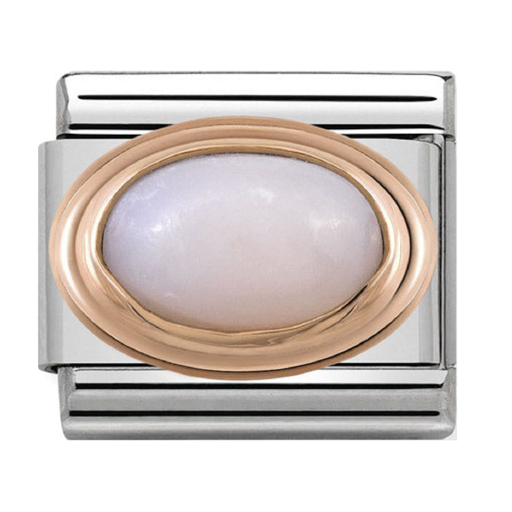Nomination Charms Rose Gold Pink Opal Stone