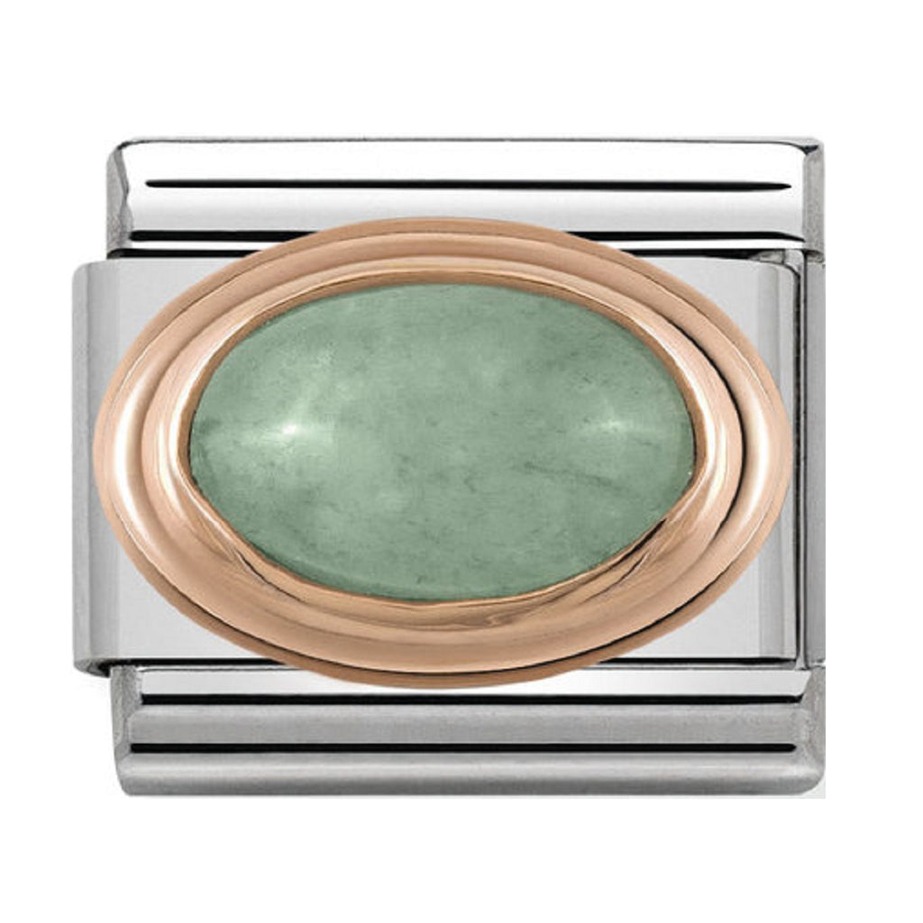 Nomination Charms Rose Gold Green Aventurine Stone