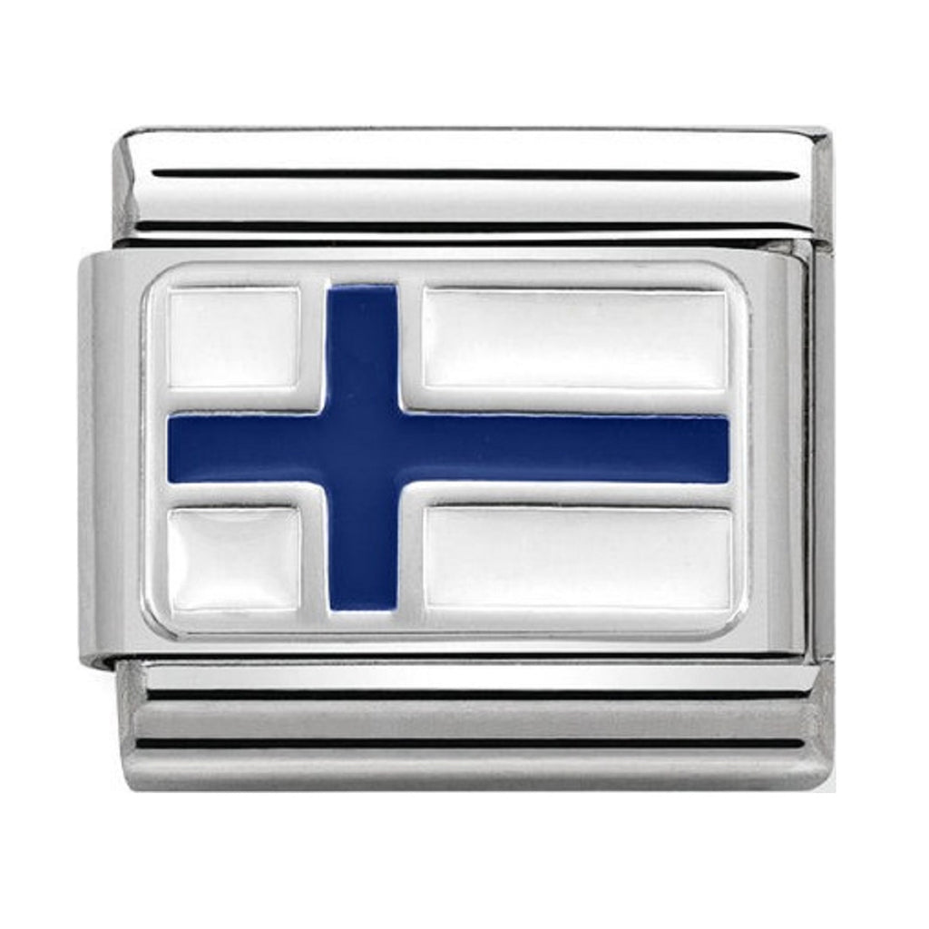 NOMINATION Charm Silver and Enamel Finland Flag