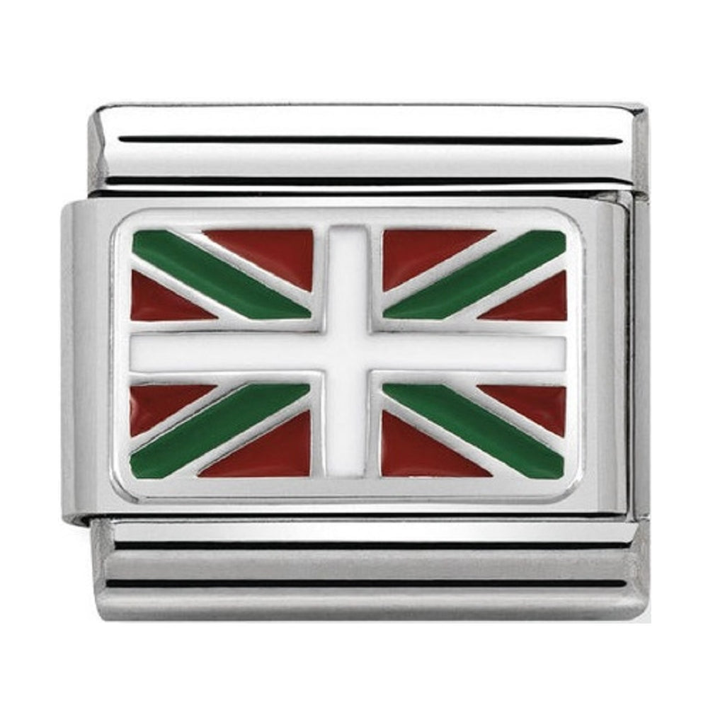 Nomination Links Silver and Enamel Basque Country Flag