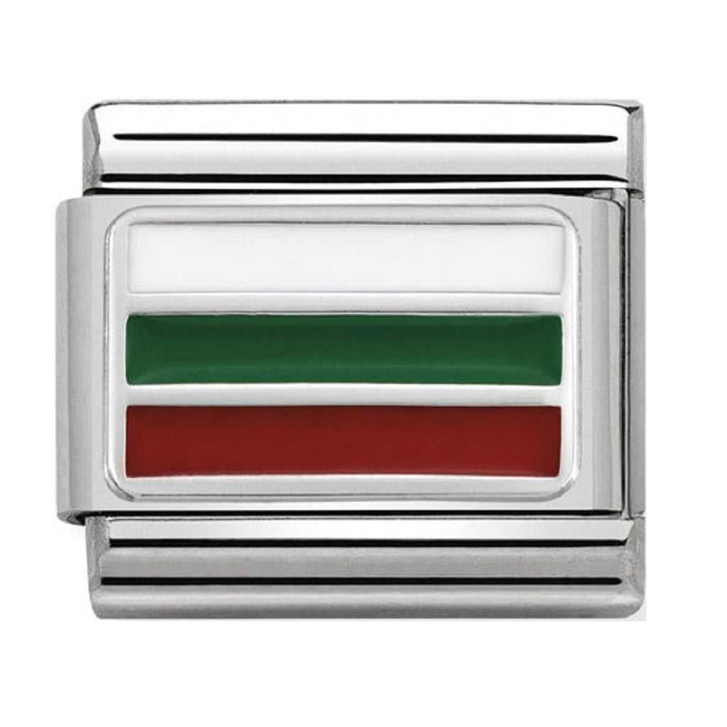 Nomination Links Silver and Enamel Bulgaria Flag