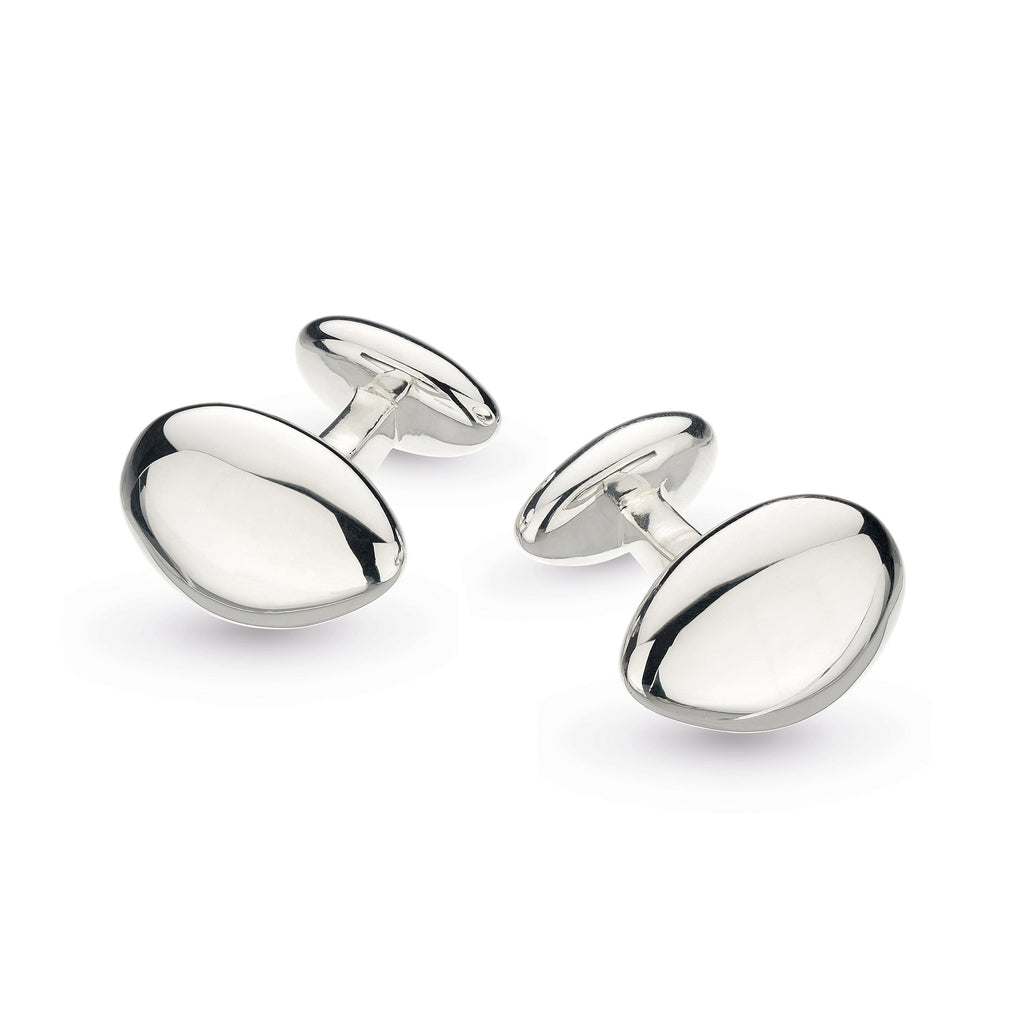 Kit Heath Silver Tumble Engraveable Cufflinks