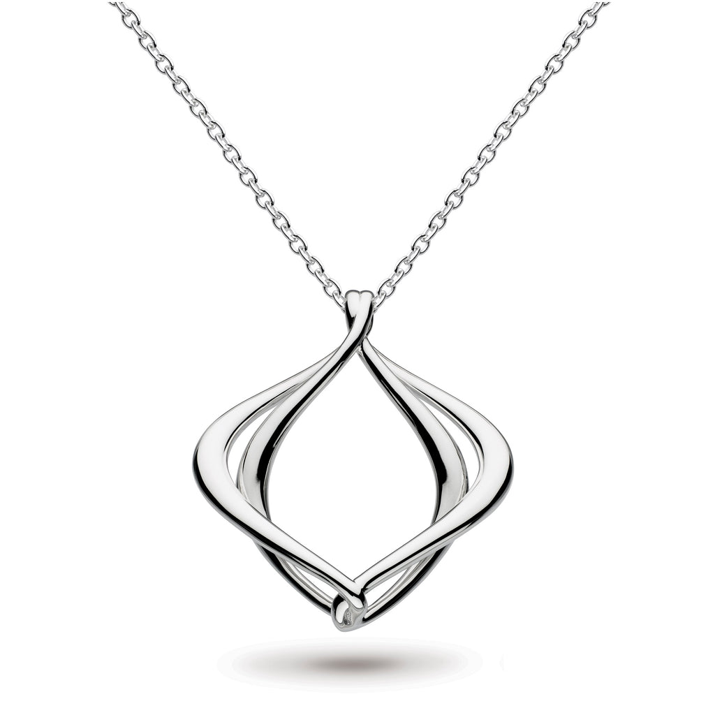 "Kit Heath Silver Entwine Alicia Big 18"" Necklace"