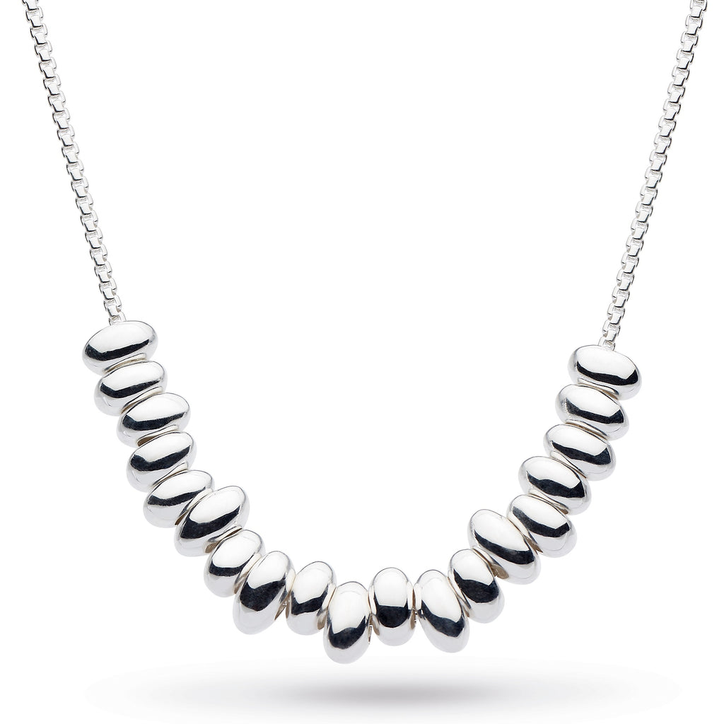 Kit Heath Silver Coast Tumble Multi Pebble Necklace