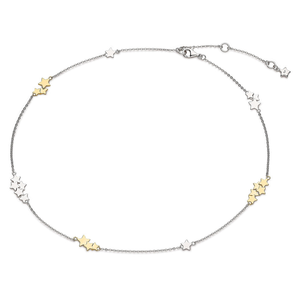 Kit Heath Silver and Gold Stargazer Stellar Two Tone Necklace