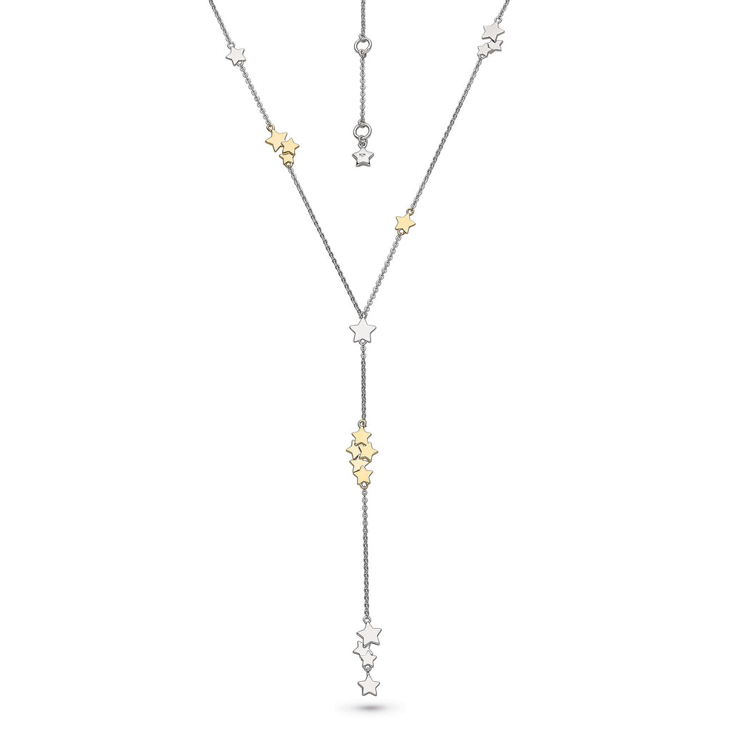 Kit Heath Silver and Gold Stargazer Stellar Two Tone Lariat Necklace