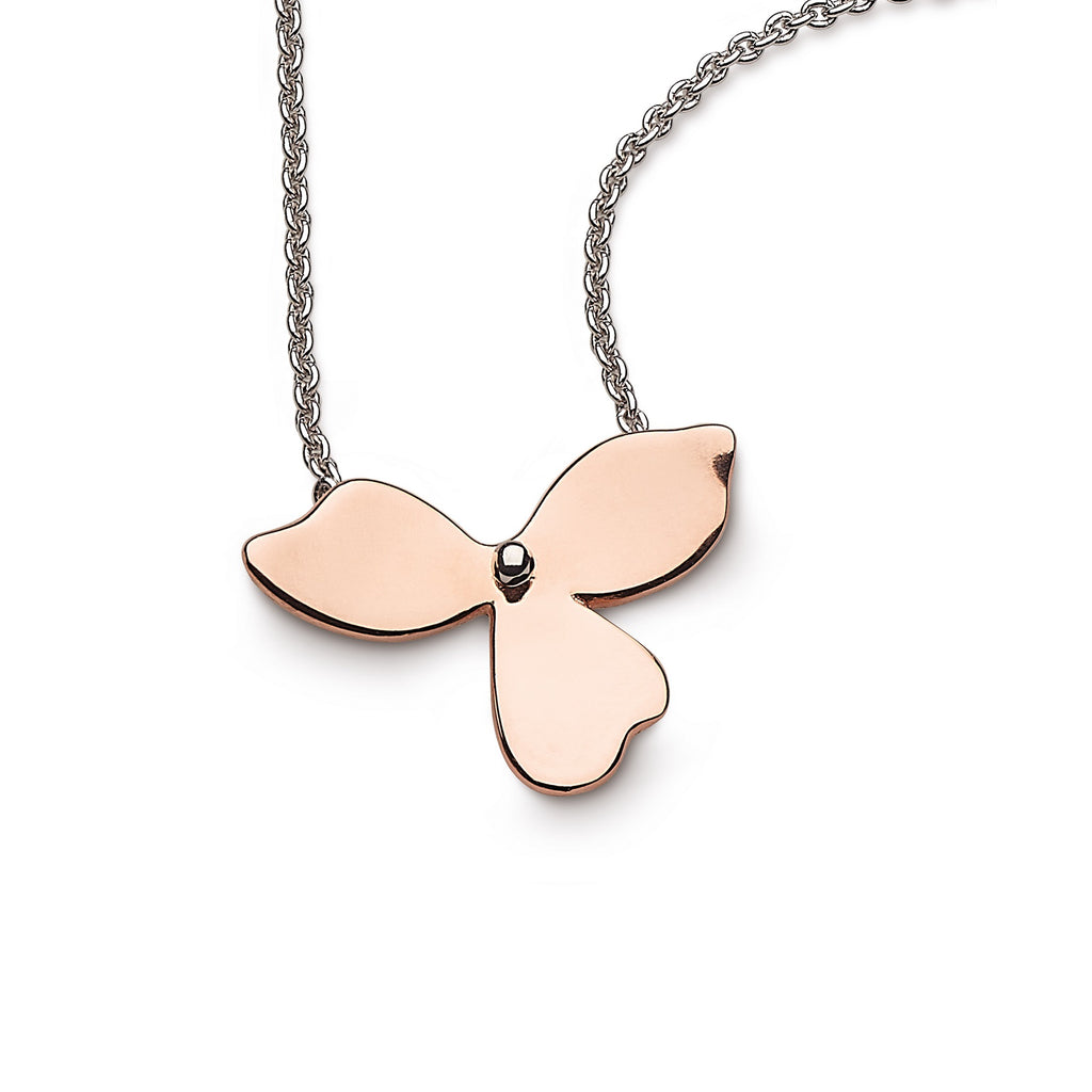 Kit Heath Silver and Rose Gold Plated Blossom Bloom Necklace