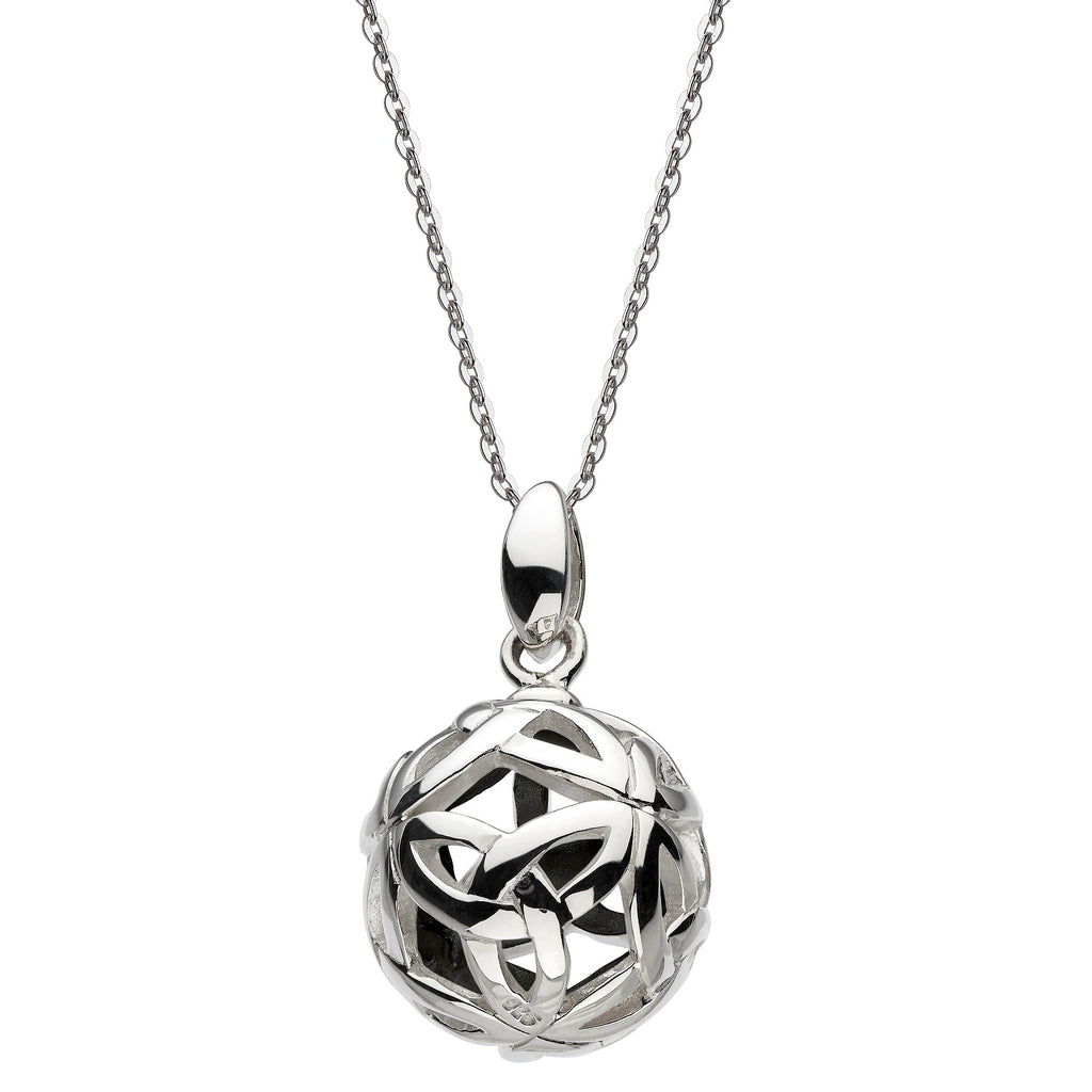 Heritage by Kit Heath Ardena Knot Ball Oxidised Necklace