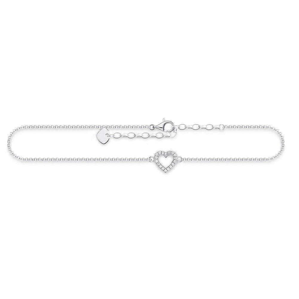 Thomas Sabo Anklet Silver Heart