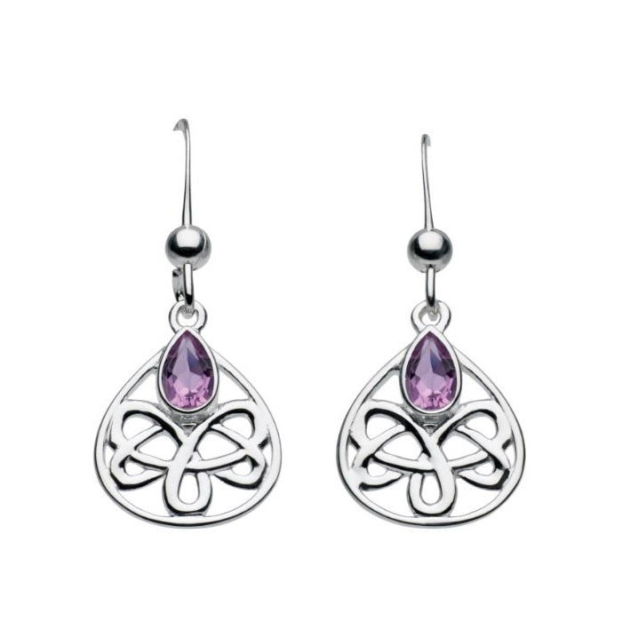 Kit Heath Silver Alana Celtic Looped Drop Earrings