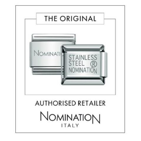 NOMINATION Charm BIG Silver and CZ Black Pavé