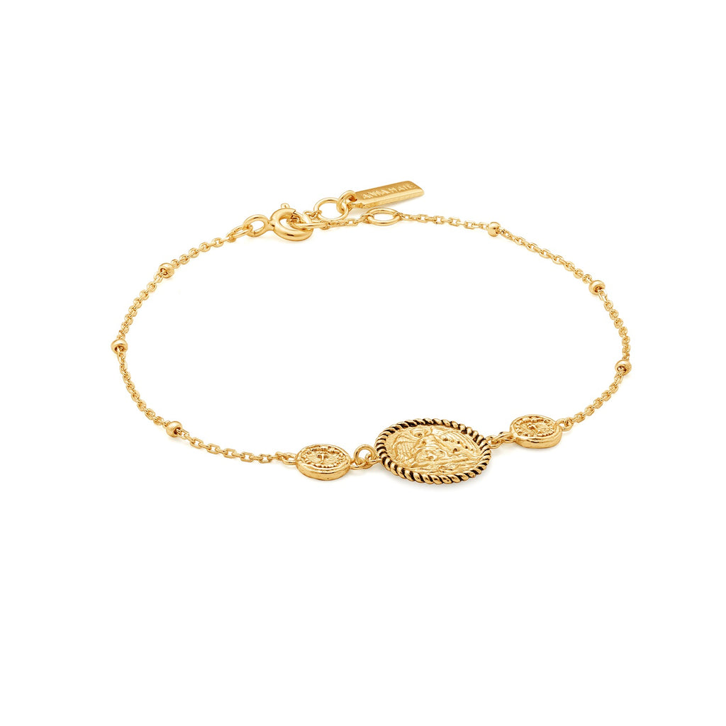 Ania Haie Winged Goddess Bracelet Gold Plated