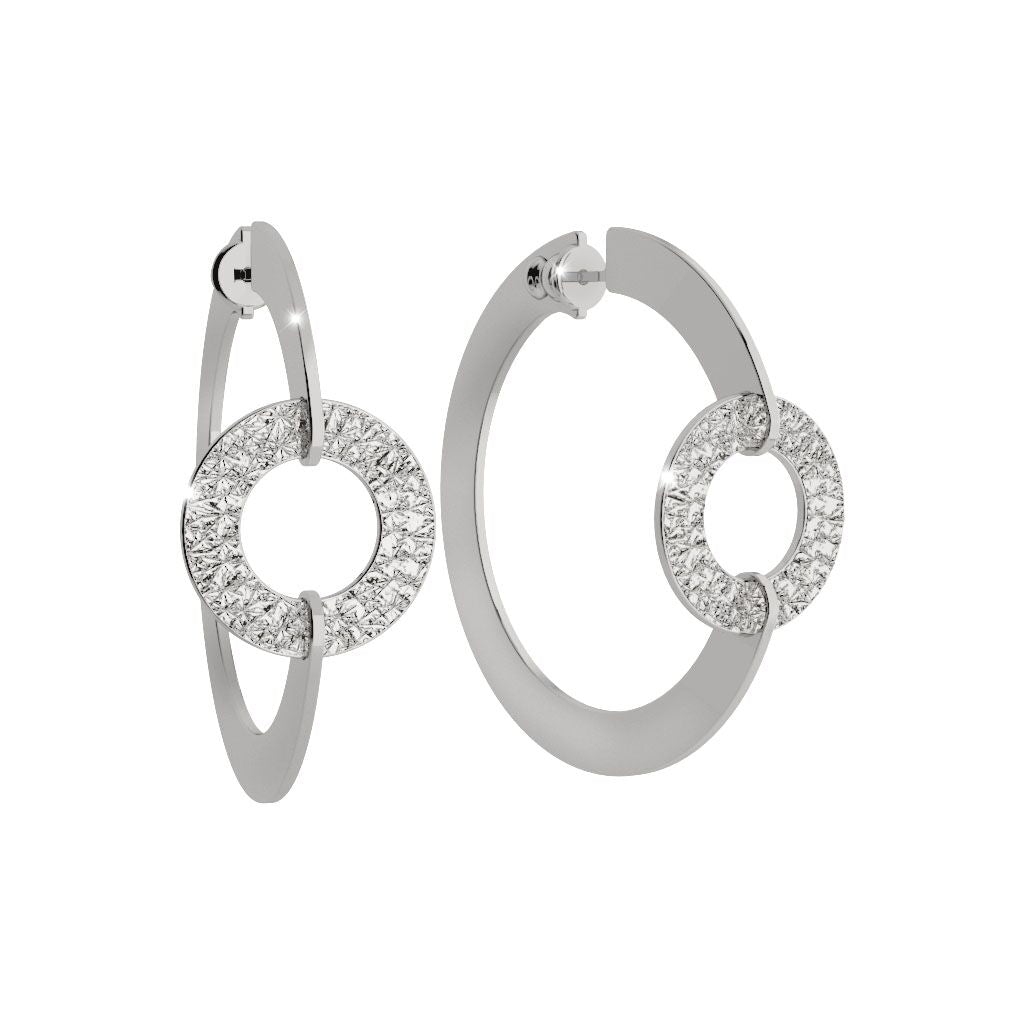 Rebecca Silver Plated Iconic O Earrings